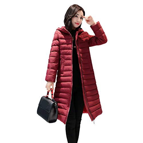 Cappuccio Leggera Women E Lunga Wanyang Con Rosso Giacche Sezione Sottile A8w4qtq