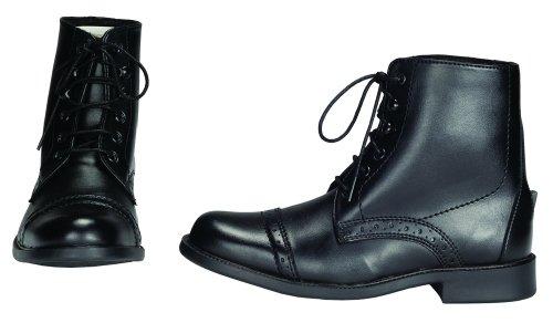 TuffRider Kinder Paddock Boots, Schnürschuh schwarz - schwarz
