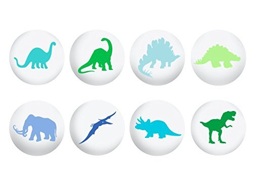 Dinosaur Drawer Knob (Hand Painted, Single Knob)