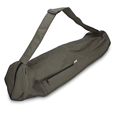 Navaris XXL Yogatasche für Yogamatte aus Baumwolle – Tasche für Yoga Matte mit Reißverschluss Tragegurt – Große Hülle 72 x 29cm – div. Farben