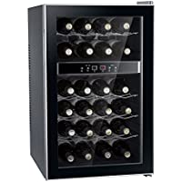 SPT WC-2462M 24 Bottle Dual-Zone Thermo-Electric Wine Cooler, Black