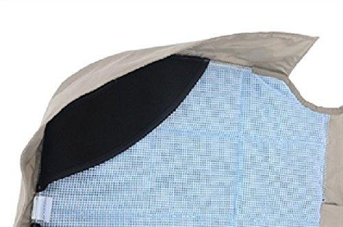 Petego Dog Car Seat Protector, Rear, Tan, X-Large