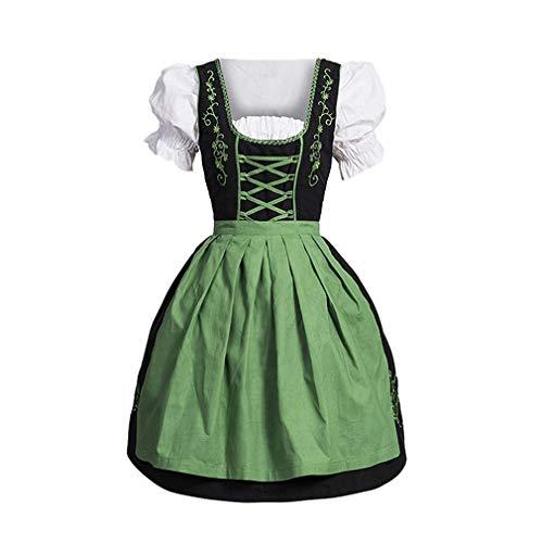 Verde Tradizionale Bavarese Donna Colore Costumi Corte Hibote In Vestito Dirndl Maniche Oktoberfest Per Abito Da G Donna Carnevale qTqxw1YtvZ
