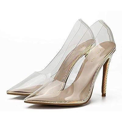 Jiu du Womens Summer Clear Pointed Toe Stiletto High Heeled Sandals Dress Pumps Shoes | Pumps