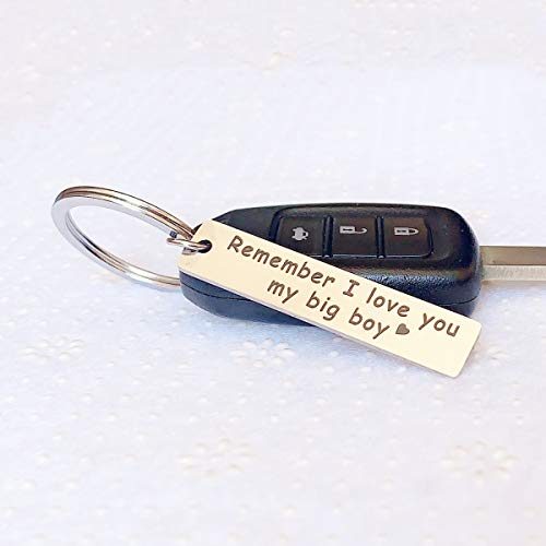 Joojus Remember I Love You My Big Boy My Little Girl Keychain Key Rings Unique Anniversary Birthday Valentine Day Wedding Gifts for Husband Wife Girlfriend Boyfriend Son Daughter for Him Her, 2 Pcs