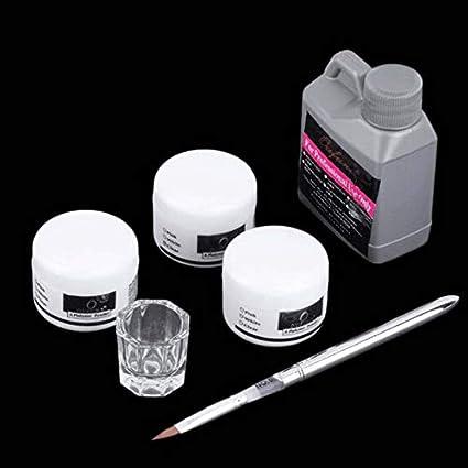 Knossos - Juego de Herramientas para uñas, acrílico, acrílico, Color Blanco