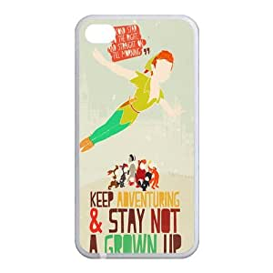 """Never Grow Up"" Design iPhone 5 5s 5G Back Plastic Case Cover"