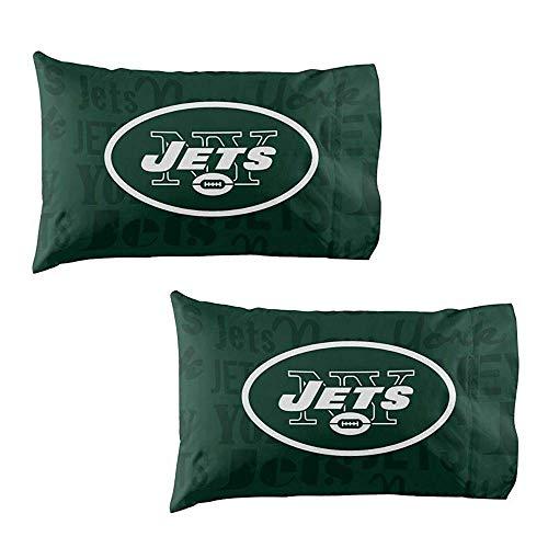 The Northwest Company NFL New York Jets Anthem Pillowcase Set Anthem Pillowcase Set, Green, One Size