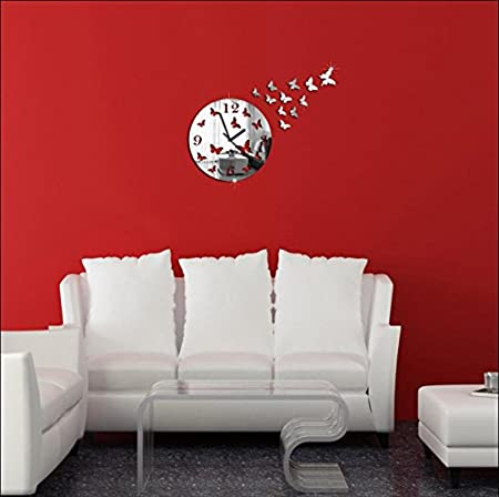 JY$ZB Pegatinas de pared adhesivos pared silencioso reloj hechizo ...