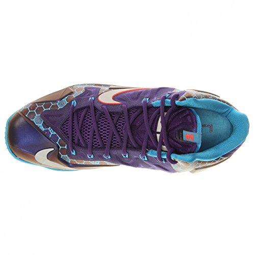 Nike Lebron Xi Mens Scarpe Da Basket Corte Viola / Vivido Blu-riflettente Argento