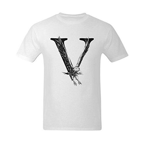 Zero-Start Men's Vulture Hawk Cool Shaped Art Design T-Shirt - Style Tee Shirt US Size Small