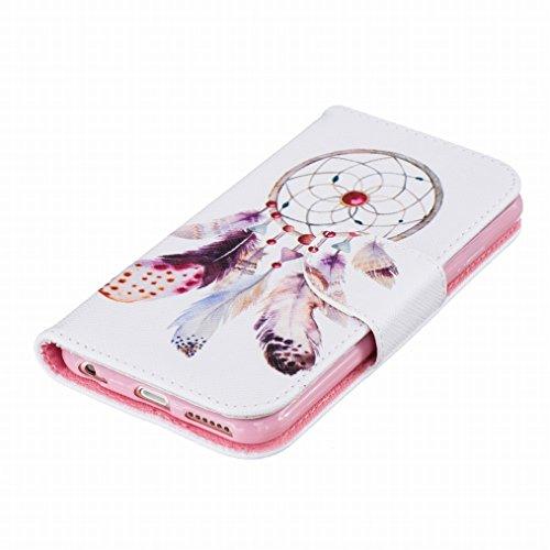 LEMORRY Apple iPhone 6s Plus (5.5) Custodia Pelle Cuoio Flip Portafoglio Borsa Sottile Fit Bumper Protettivo Magnetico Chiusura Standing Card Slot Morbido Silicone TPU Case Cover Custodia per iPhone 6