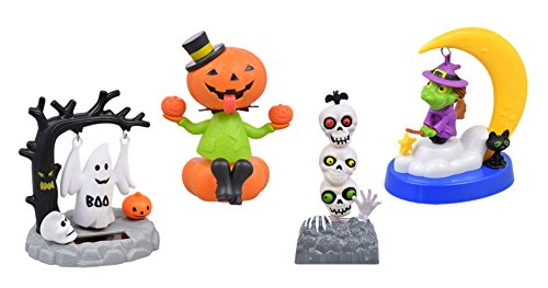 Solar Dancing Halloween Set, 4 Figures -