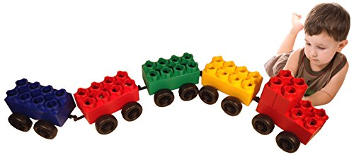 UPC 855486002129, 46pc Jumbo Blocks - Train Set (Made in the USA)