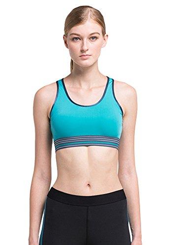 Insun - Sujetador deportivo - para mujer Azul