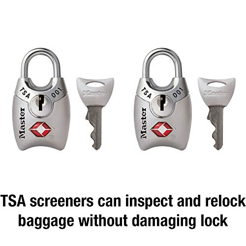 4192tDaVSWL - Master Lock 4689T Keyed TSA Accepted Luggage Lock, 2 Pack, Assorted Colors