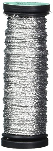 Kreinik No.8 Fine Metallic Corded Braid Trim, 10m, Silver