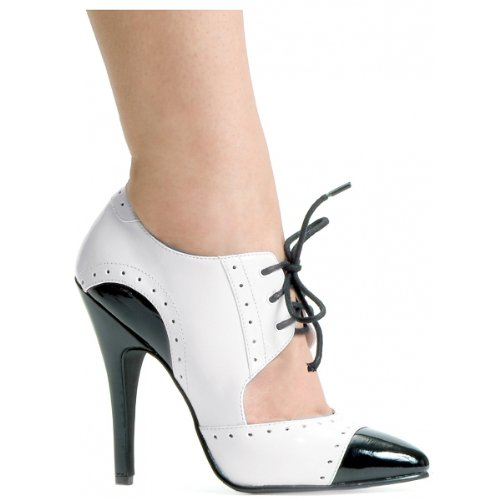 Gangster Adult Costume Shoes - Size 9 (Heeled Oxford Sexy High Shoe)