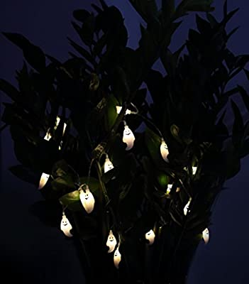 Velice Battery Operated LED Fairy String Lights 20 Blue Bat Lights Halloween Christmas Decoration Lights