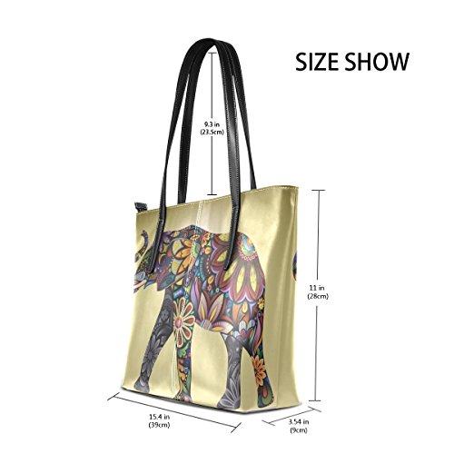 en Peinture les et main Sac à Sac PU Porte muticolour COOSUN cuir femmes à pour sacs bandoulière Moyen Elephant IYwnqxWd