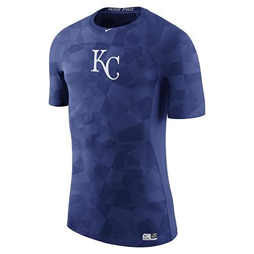 ナイキ メンズ MLB Kansas City Royals Nike Authentic Collection Pro Performance T-Shirt Tシャツ 半袖 ナイキプロ Royal [並行輸入品] B07HMTT8MY  XL