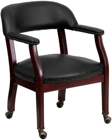 Flash Furniture Black Vinyl Luxurious Conference Chair - the best living room chair for the money