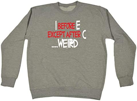 Funny Novelty Sweatshirt Jumper Top Stay Weird