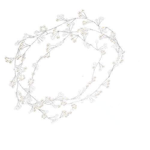K/ünstliche Perlenkopf-Haarkette Frauenschmuck Haarschmuck Brautstirnband-Hochzeitszubeh/ör