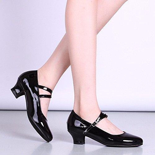 Noir Masocking@ Femme Chaussures de Danse Sandales Comme à faible lumière carré de côté lumineux US8.5 EU39 UK6.5 CN40