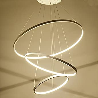 Suspension Lampe Lustre Moderne De Homelava Avec Anneaux Trois 29DWEHYI