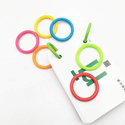 Loose Leaf Binder Anelli Libro Foglie Sfuse Diametro 28mm 100 Pezzi Anelli a libro anelli Anelli di Rilegatura Apribili Album documenti per anelli connettori a fogli mobili Scrapbook Craft