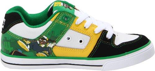 DC Kids Skate Shoes Rob Dyrdeks WILD GRINDERS Black / White / Emerald