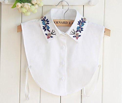 yulakes Fashion cuello Vintage elegante señoras mitad Fake cuello falso camisa blusa cuello desmontable de color blanco la mitad shirt-style 8: Amazon.es: Hogar