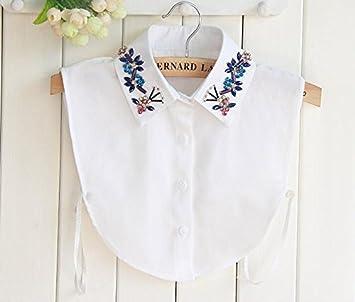 Yulakes Fashion Kragen Vintage Elegante Damenhalb Fälschungs-Kragen Fake  Hemd Bluse Kragen Weiß Abnehmbare Hälfte d568017574