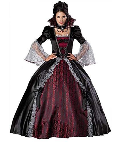 Marsya Mallow Women's Versailles Dress Costume Vampiress Gothic Dress Costume (Medium) -