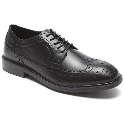(Dunham Men's Grayson-Dun Oxford Shoe, Black, 14 D US)