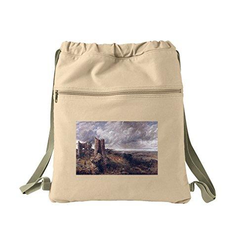 Hadleigh Castle (Constable) Canvas Dyed Sack Backpack Bag (Castle Hadleigh)