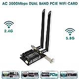 EDUP WiFi 6 Card AX 3000Mbps PCIe Network Card