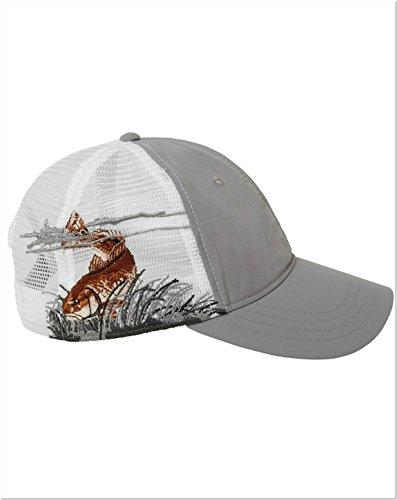Dri Duck D3400 Mesh Back Cap - Redfish/Grey - One Size
