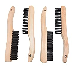 4 Multi-Purpose Shoe Handle Wire Scratch Brushes