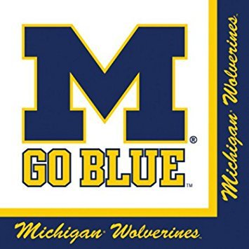 Michigan Wolverines Party Bundle Lunch Napkins (60)]()