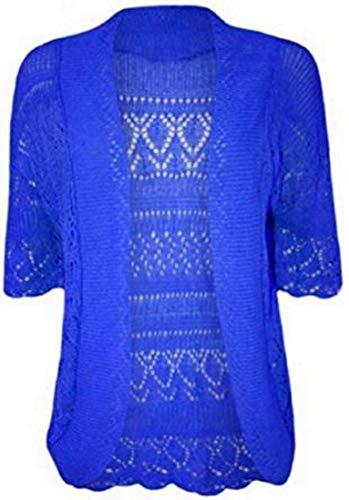 Cardigan Mafhh55 Donna 3 Royal A Blue 4 Manica 7dqrFwd