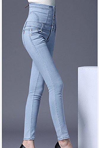 Vita Fit Slim Taglia Jeans Cielocolor Blu Alla Donne Classico Per Le tfFaq