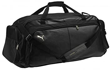 8062b3f6bf6 Image Unavailable. Image not available for. Colour  Puma KING Large Sports  Bag black gold ...