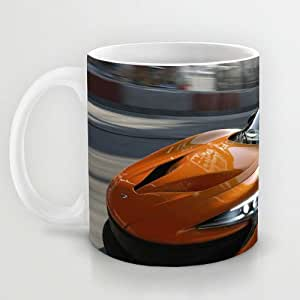 Great Gift Choice - Gaming Mugs,White 11 oz Classic White Ceramic Mugs with Free Forza Wallpaper Coffee Mugs/Tea Mugs/Drink Cups - Dishwasher and Microwave Safe
