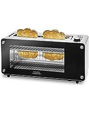 Cecotec VisionToast broodrooster. Glazen venster, XL sleuf, 7 toast niveaus, 3 functies, 7 mogelijkheden, 2 toasts en 1260 W.