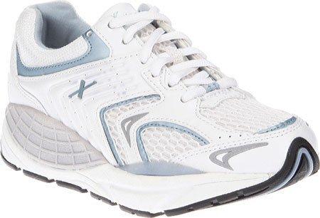 Xelero Matrix Women's Comfort Therapeutic Extra Depth Sneaker Shoe: White/Blue 10.5 Medium (B) Lace