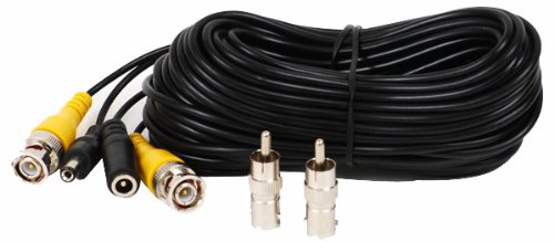 VideoSecu 150Ft Pre-made All-in-One BNC RCA CCTV Security Surveillance Camera Video Power Extension Cable with Connectors B47 (150ft, Black)