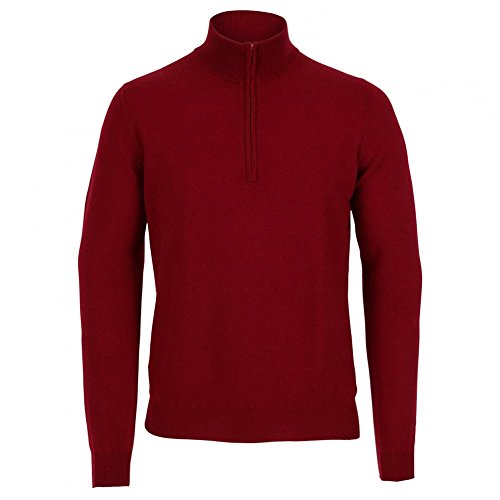 cashmere Men's Half Zip Sweater XLarge Mulberry Mulberry