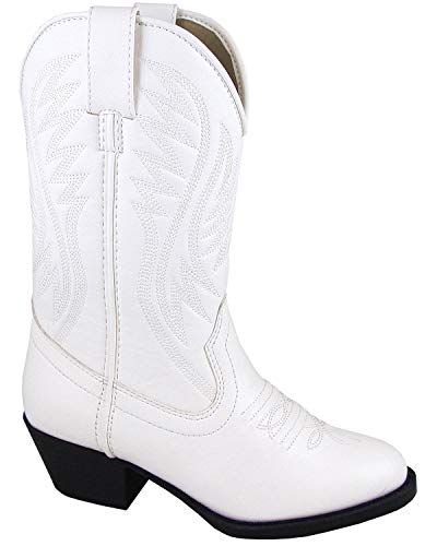 Smoky Mountain Girls' Mesquite Western Boot Round Toe White 5 D ()